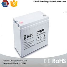 china top 10 manufacturer supply free AGM solar battery 12V 80AH 90ah 100ah battery