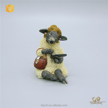 Wholesale Resin Animal Molds Craft Figurine Garden Sheep Statues