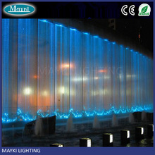 Shimmering Fiber Optic Waterfall Light Curtain With Sparkle Fibre Cables