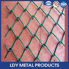 High quality china good galvanized diamond wire mesh chain link fencing