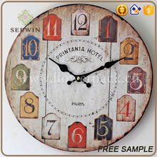 home hanging art decor personalized antique double sided wall clocks