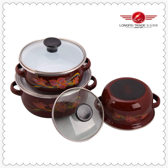 Hot sale porcelain enamel steel cookware high quality 2014