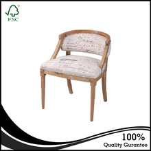 VZD015 French Design New Classic Provincial Wooden Hand Carved Dining Chair/New Classic Upholstered Side Chair