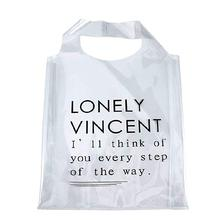 Promotional Shopping Merchandising Bag Eco-friendly Waterproof Tote Bag Clear PVC Hand Bag For Shopping