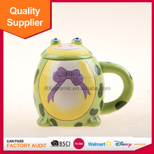Hign quality ceramic food storage Cartoon toy candy pot for promotion