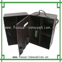 wine carrier box leather