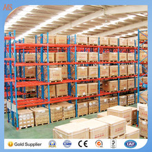 Warehouse racking system unit shelving stackable and portable powder coated steel stacking rack