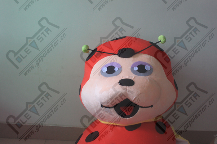 NO.5305 lovely yellow belly ladybug cartoon mascot costume