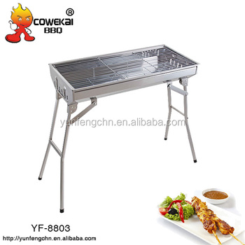 Folding bbq grill with big cooking size for 9-12 people garden appliance