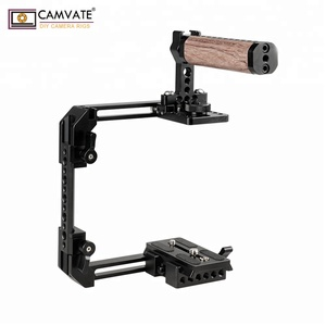 CAMVATE Extendable Standard Cage Kit For DSLR Cameras With QR Manfrotto Baseplate