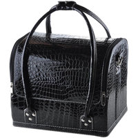 Large Crocodile Pattern PU Makeup Case Cosmetic Train Bag Case