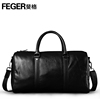 Airline Company Vender Genuine Leather Travel Bag Vintage Leather Duffel Bag