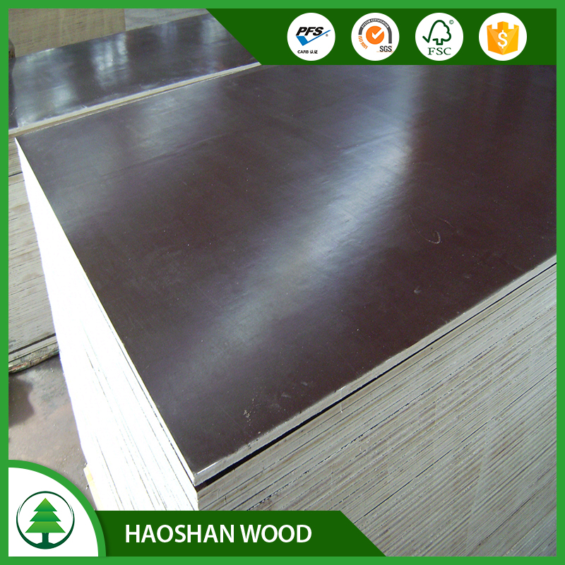 Marine plywood 12mm construction material, waterproof brown film faced plywood, concrete formwork plywood