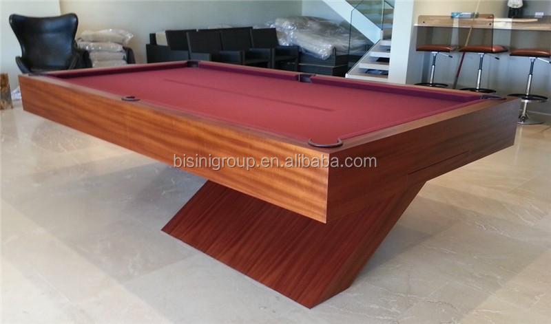 Aangepaste moderne design houten graan pooltafel x basis 9ft biljart snooker en biljart tafels - Decoratie biljart ...
