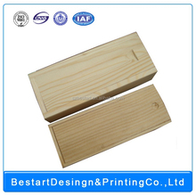 wholesale high quality custom hot sale wood wine box with sliding top