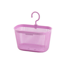 cheap plastic mini gift basket with hook handles bathroom