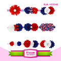 Hot sale Hair Accessories Kid Cute Crystal Elastic Hair Independence day Baby Girl Flower Headband