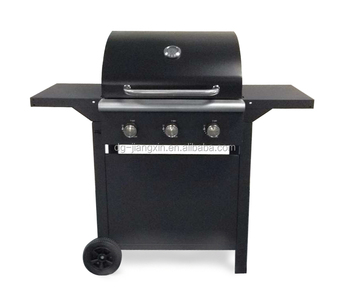 3 burners black painting outdoor gas BBQ grill for promotion