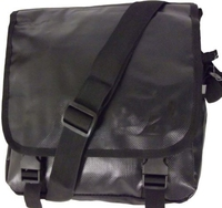 "2014 fashion Men's Tarpaulin messenger bag 10"" Laptop Messenger Bag Computer Bag Black"