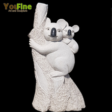 Lovely Animal Sculpture Granite Stone Koala Statue for Garden