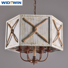 wood droplight indoor decoration rustic iron chandelier ancient ways