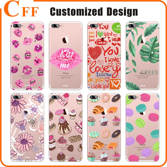 Custom design UV printing cell phone case for iphone 6 cover soft tpu jelly case for samsung galaxy j5 2017