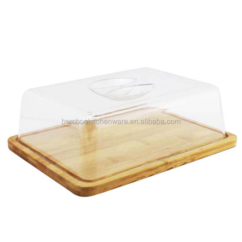 Bread/Cake/Cheese plate with plastic cover, View Cake plate with ...