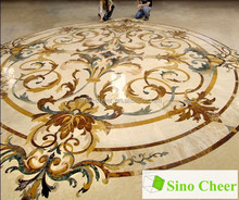 beautiful,new style marble waterjet for floor,waterjet marble tiles design floor pattern ,flower pattern marble medallion
