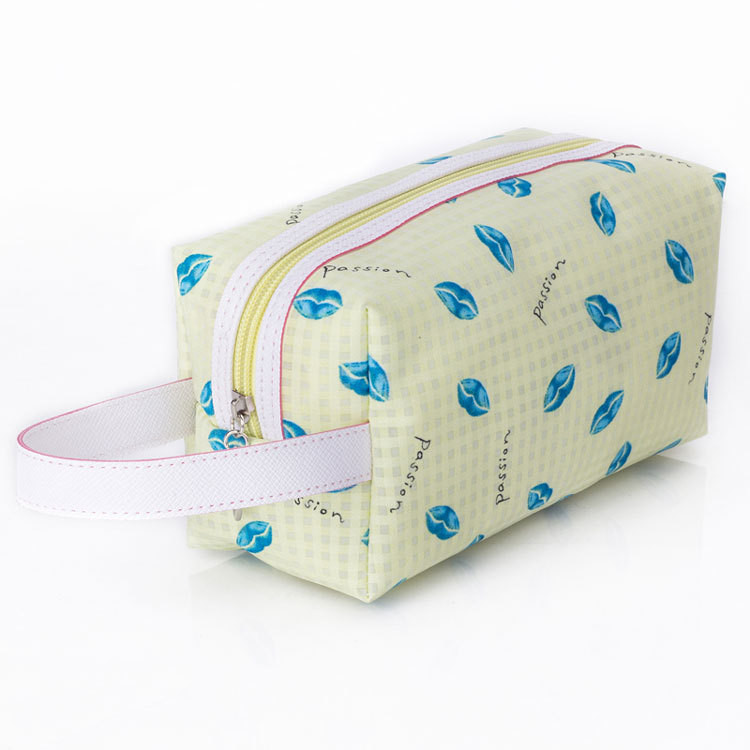 new fashionable stylish make up bag blue branded with low price
