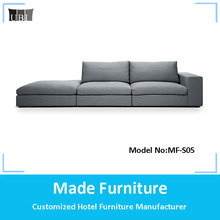 Big discount home fabric soft sectional corner sofa set design MF-S05