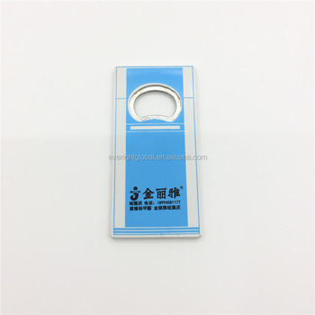 T0120 High Quality Refrigerator shape Refrigerator magnet with bottle opener with custom logo