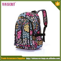 Vivisecret factory supplier small square flower travel bag for men