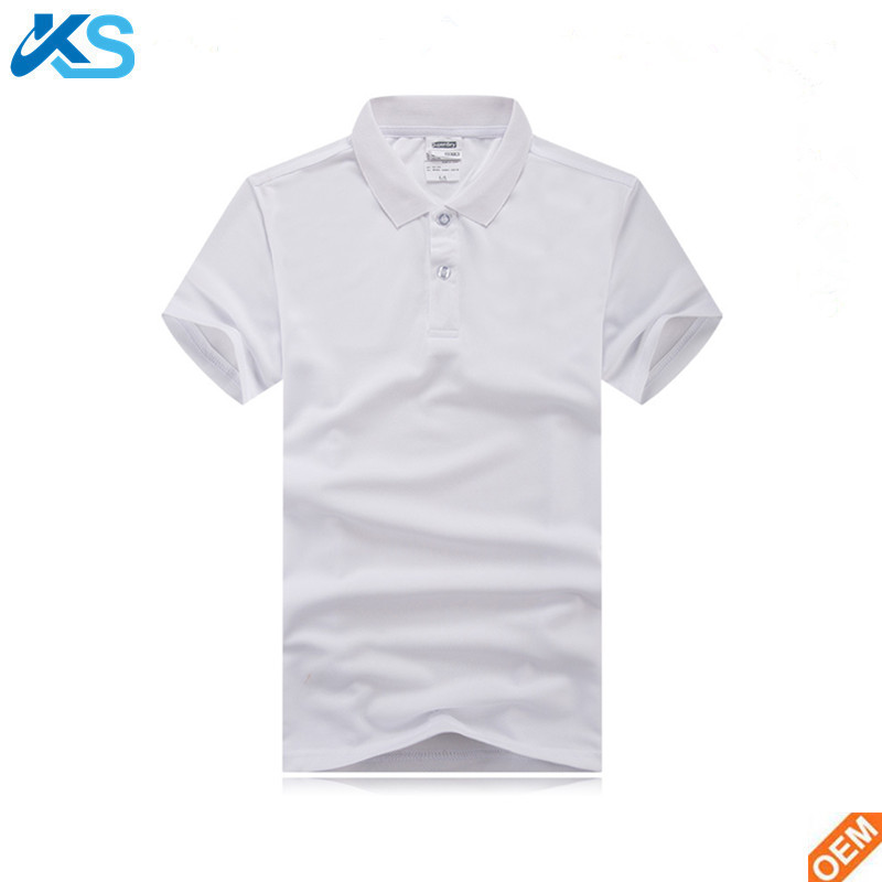 Custom Wholesale White Men's Blank Quick Dry Tech 100%Polyester Interlock Polo Shirts For Golf Table Tennis Racing