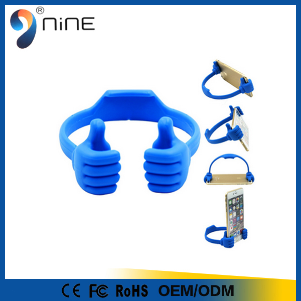Multifunctional plastic thumbs up media holder for mobile phone stand holder can printing logo