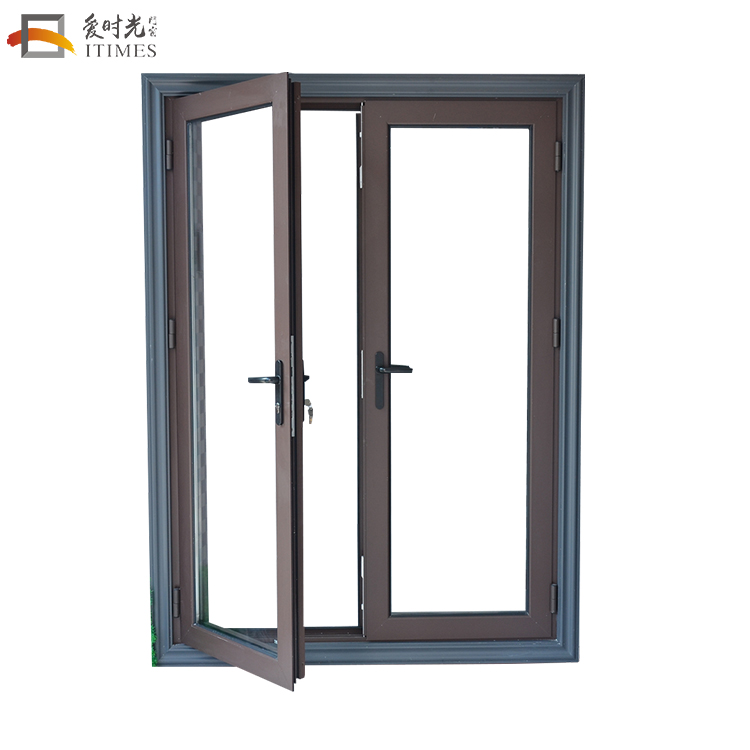 Alibaba china custom aluminum tempered glass inserts french doors exterior
