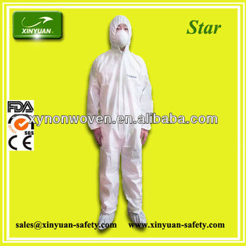 CE TYPE 5/6 antibacterial cloth coverall