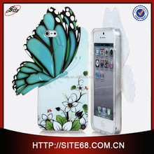 China Alibaba New Pattern Water Printing Beautiful Butterfly Design TPU mobile phone shell for iphone 5g 5s case
