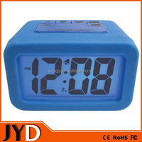 JYD- DAC06 New Advance Time Technology Silicone Desktop LED Alarm Clock with Matching Backlight