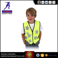 Fluorescence child Safety Vest with reflective stars