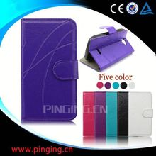 factory price leather newest case for samsung galaxy core i8260 i8262