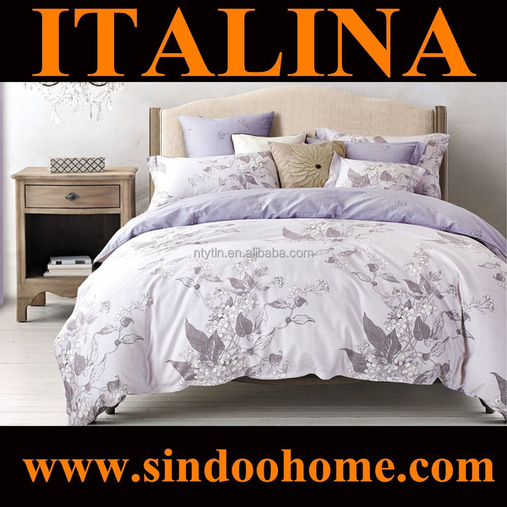 China Suppliers 2015 latest design elegant floral pattern organic cotton printed twin flat sheets