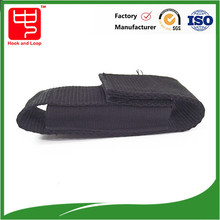 webbing pouch with hook loop for knife, electric torch