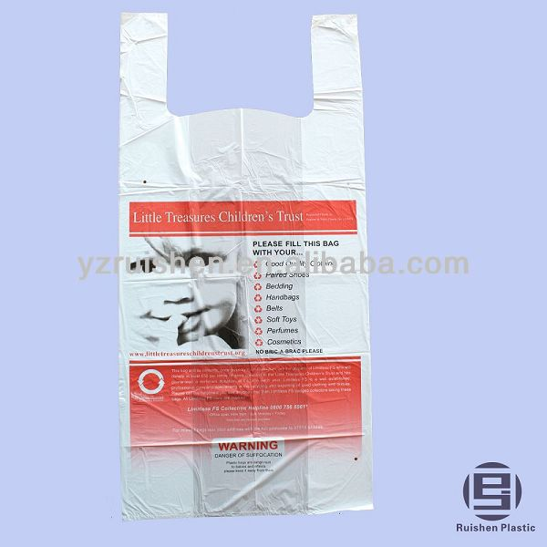 LTCT Biodegradable collection Bag packing second hand clothes with printing