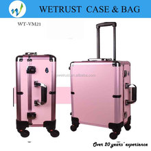 LED Light Studio makeup case with Mirror Wheels and trolley