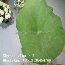 2014 hot selling products new design artificial water lily leaf for decoration