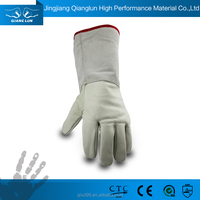 QL durable modeling waterproof leather long elbow hand gloves