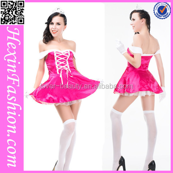 No MOQ Sexy Pink&White Princess Dress