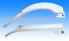 Fiber-optic plastic laryngoscope balde for adult and children