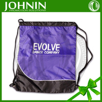 purple design nylon fabric custom logo silk-sreen printing wholesale nylon drawstring bag