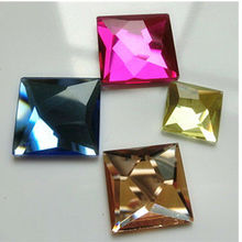 square flat back crystal glass rhinestones beads sw